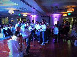 Dancin' Shoes DJ and Lighting - pink blush uplighting for garter toss - Hotel Boulderado - Boulder