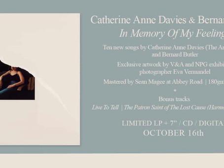 Bernard Butler & Catherine Anne Davies - new album