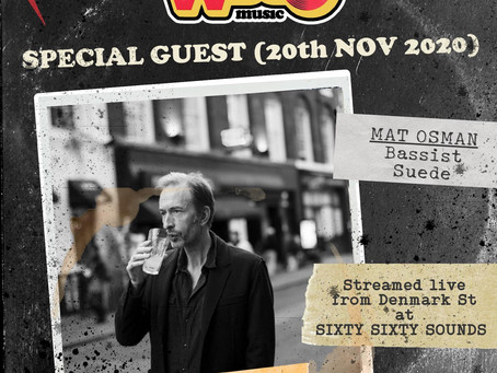 Mat guesting on WDGO Music radio this Friday