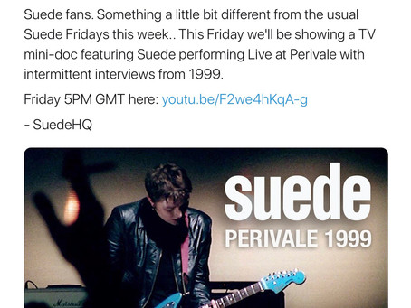 Suede Friday 20th November - Perivale 1999