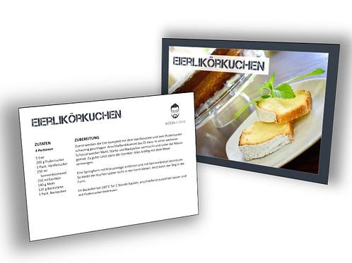 Rezeptkarte: Eierlikörkuchen