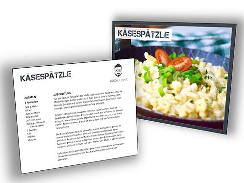 Rezeptkarte: Käsespätzle