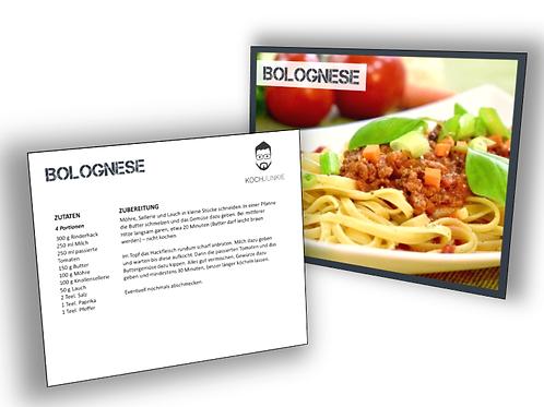 Rezeptkarte: Bolognese