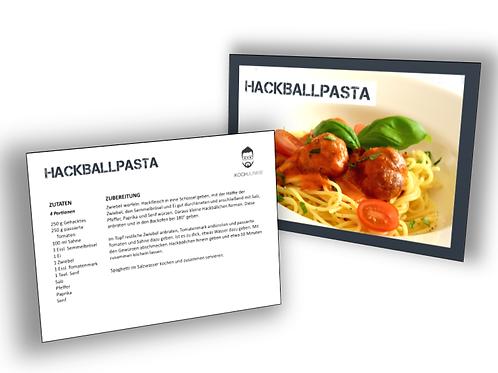 Rezeptkarte: Hackball Pasta