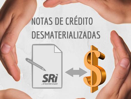 Normas para la emisión y utilización de las notas de crédito desmaterializadas.