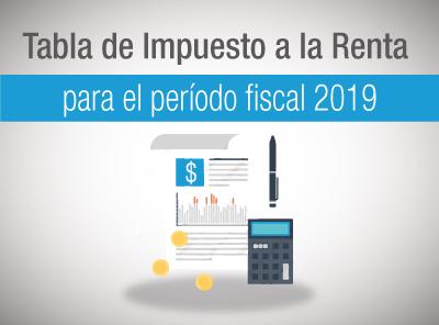 Rectificación a la tabla de Impuesto a la Renta para personas naturales 2019.