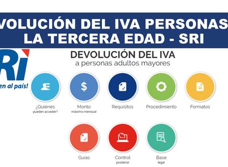 Procedimiento y requisitos para la devolución del Impuesto al Valor Agregado - IVA a adultos mayores