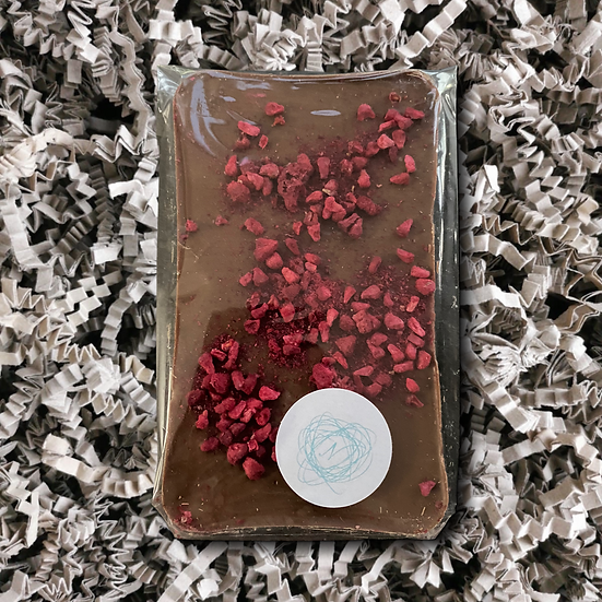 Nenette Hand Crafted Chocolates - Milk Chocolate Raspberry Bar 110g