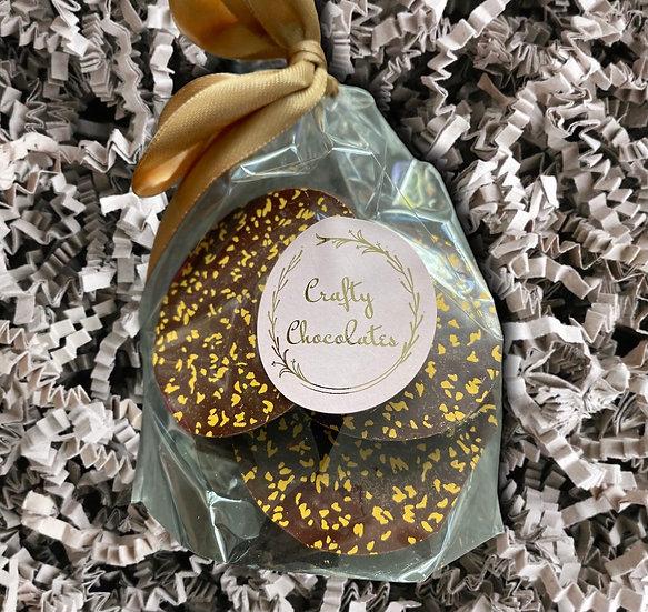 Crafty Chocolates - Dark Chocolate & Orange Buttons