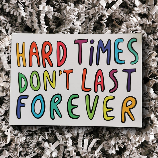 Katie Abey Hard Times Postcard - Can Be Personalised
