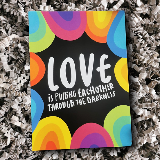 Katie Abey Love Through the Darkness Postcard - Can Be Personalised