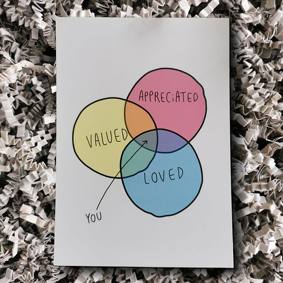 Katie Abey Valued Loved Appreciated Postcard - Can Be Personalised