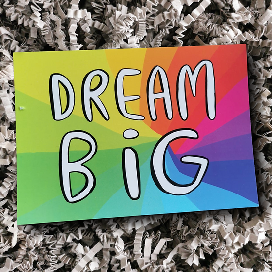 Katie Abey Dream Big Postcard - Can Be Personalised