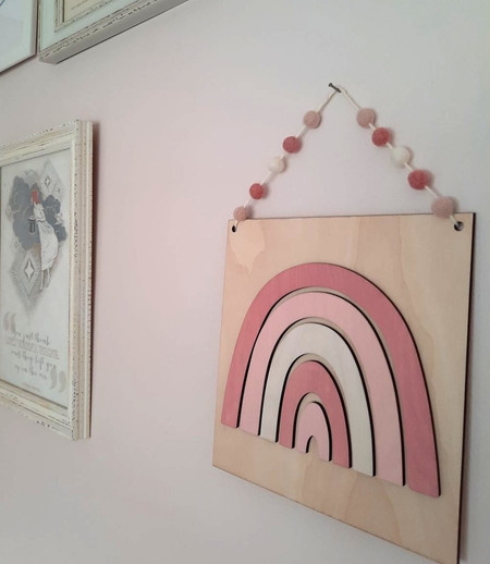 Perfect pinks rainbow wall plaque