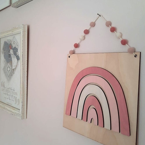 LIMITED EDITION Perfect Pinks Rainbow Wall Plaque