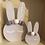 Thumbnail: Mini Handpainted Pom Pom Bunny