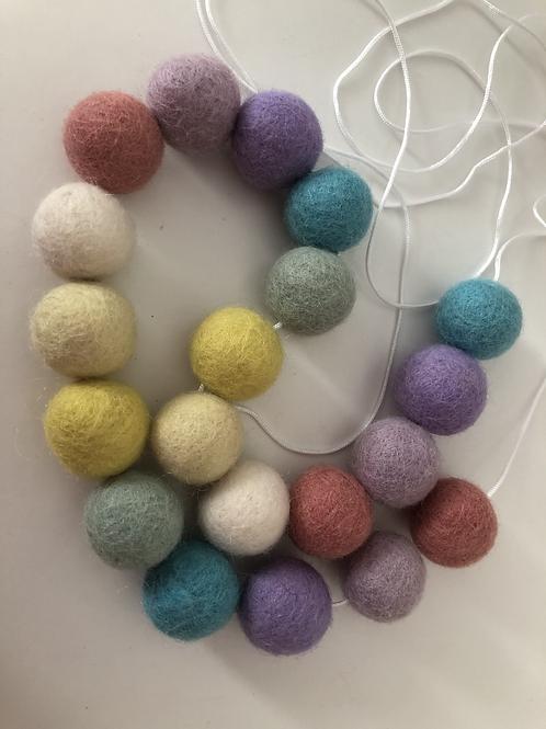 CUSTOM MADE Felt Ball Pom Pom Garland - Choose Your Own Colours