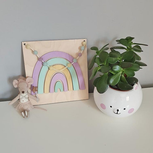 LIMITED EDITION Perfect Pastels Rainbow Wall Plaque