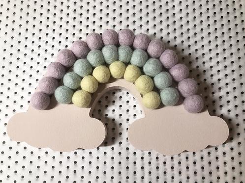 LIMITED ADDITION Pastel Handpainted Pom Pom Rainbow