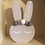 Thumbnail: Baby Pink Personalised Handpainted Pom Pom Bunny
