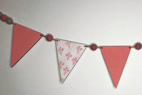 Handpainted Floral Bouquet Bunting