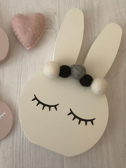 Ivory Personalised Handpainted Pom Pom Bunny