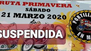 SUSPENDIDA  LA RUTA PRIMAVERA DE LOS PORTILLEROS EN MOTO 2020