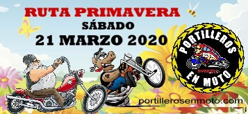 RUTA PRIMAVERA 2020 PORTILLEROS EN MOTO 21 MARZO