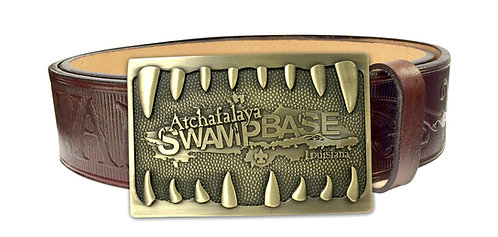 Alligator Mouth Buckle - Bronze