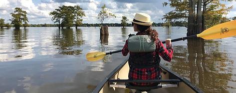 Canoe rentals in Louisiana's Atcafalaya Basin Swamp