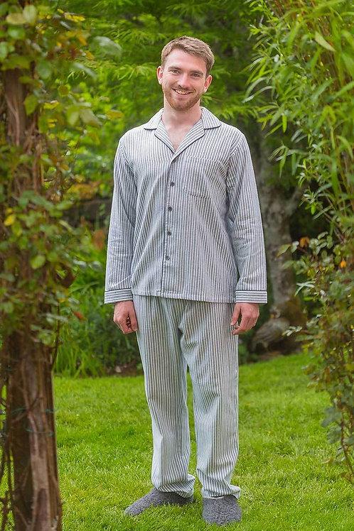 Blue & Ivory Stripe Pajamas