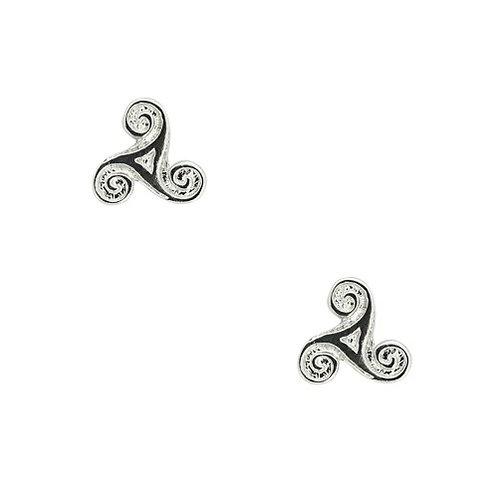 Triskele Stud Earrings