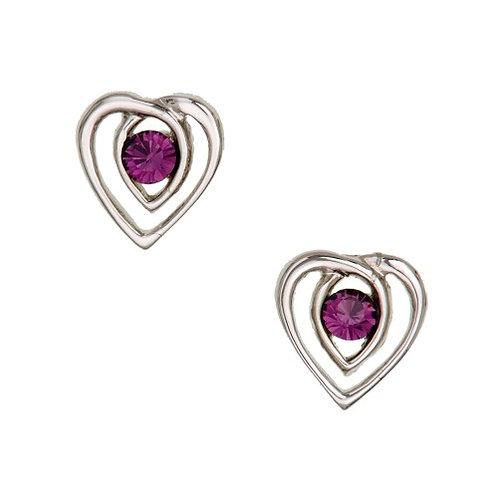 Celtic Heart Stud Earrings