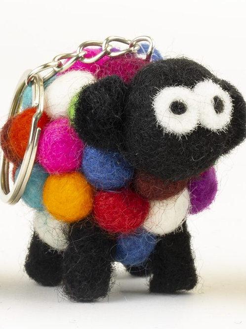 Multi-Color Sheep Keychain