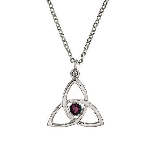 Trinity with Stone Pendant