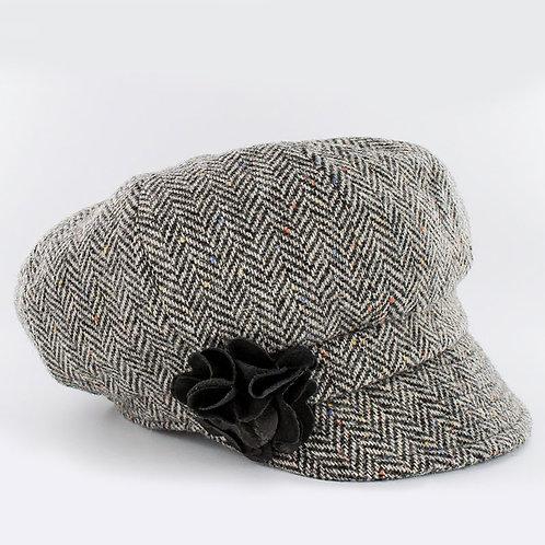 """Gracie"" Royal Tara Herringbone Hat"