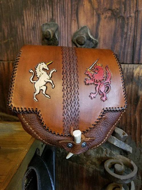 Heraldic Leather Sporran