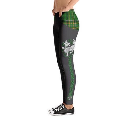 Custom Celtic Wolf Totem Leggings