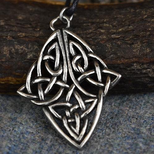 Knotwork Diamond Pendant