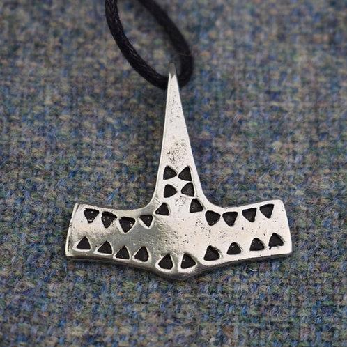 Danish Hammered Hammer Pendant