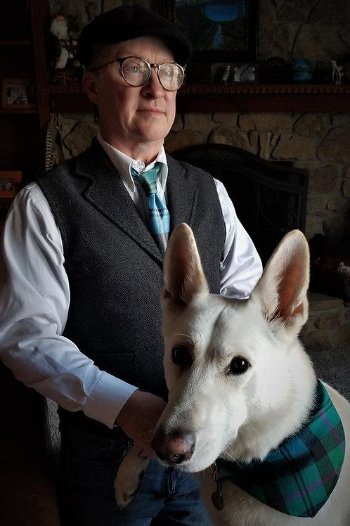 Matching Custom Tartan Pet Bandana and Tie