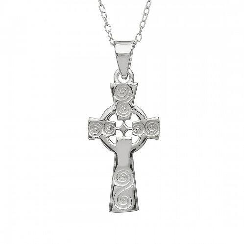 Spiral Cross Pendant