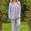 Thumbnail: Blue & Ivory Stripe Pajamas