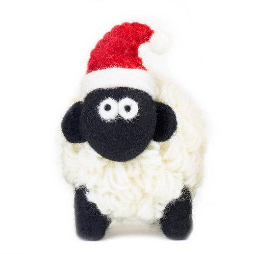 Sheep with Santa Hat