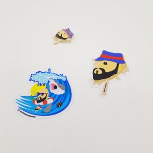 DONOVAN Summer sticker and pin design