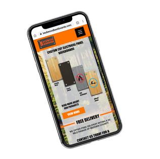 Backwoods Backboards mobile layout