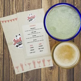 Judy's Cocktail Menu product shot