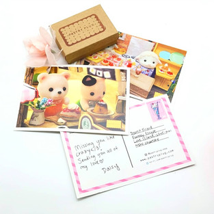 Pastry Plug postcards and stamp