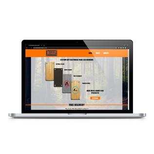 Backwoods Backboards  Website layout