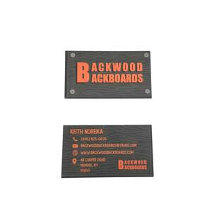 Backwoods Backboards Business Cards